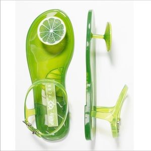 Katy Perry Scented Lime Sandals Green 5 NEW